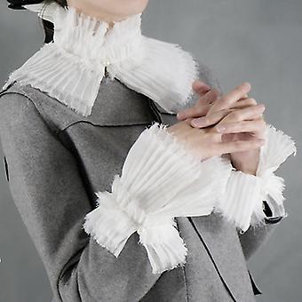 Moda Romántica Puños de Perla Decorativos Puños de Cuello Falsos