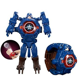 Deformation Electronic Watch Marvel Cartoon Projection Toy