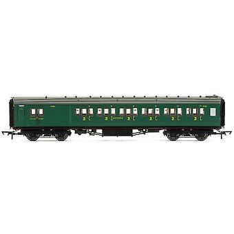 """Hornby SR Maunsell Corridor Brake Tredje klass 3798 """"Set 328"""" Era 3 Modelltåg"""