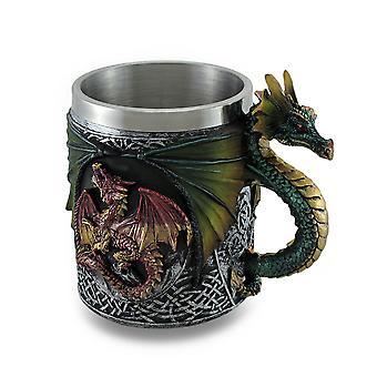 Gothic Dragon Tankard Celtic Knot trabalhar w de caneca/inserção de aço inoxidável