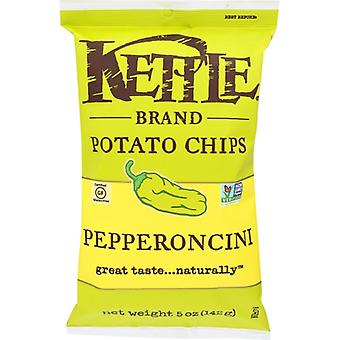 Kettle Foods Chip Pepperoncini, Case of 15 X 5 Oz