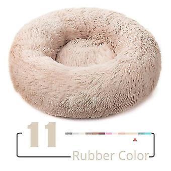 لون مطاطي جديد xs-40cm جولة أفخم القط منزل القط حصيرة الشتاء القطط النوم الدافئ عش لينة sm39111