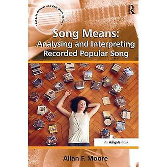 Song Means Analysing and Interpreting Recorded Popular Song by Moore & Allan F.