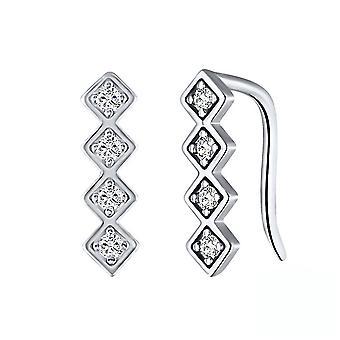 Ear Studs S925 Single Row Diamond Øreringe Øredråber til udstilling