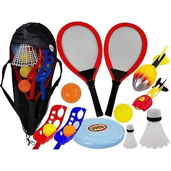 Sportspel set batminton med bollar & frisbee - Utomhusleksaker