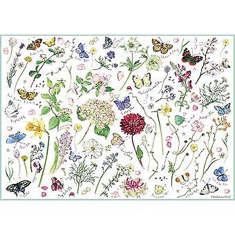 Otter House Flowers & Butterflies Jigsaw Puzzle (1000 Pieces)