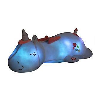 60CM Niedliche LED Licht Einhorn Kissen Einhorn Plüsch Spielzeug Schöne leuchtende Tier Gefüllte Puppen| Puppen