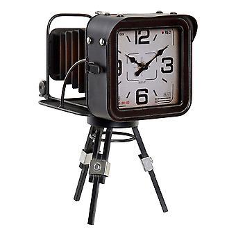 الجدول على مدار الساعة DKD المنزل الديكور المعدني خمر (17 × 26 × 32 سم)