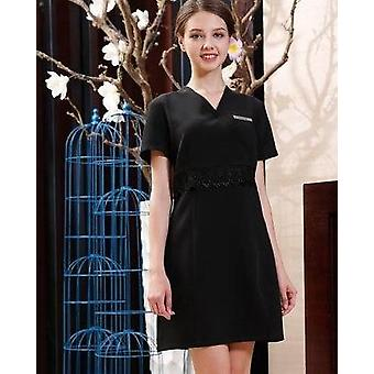 Spa Dress Design Quality Beige Beauty Salon Massage Uniform