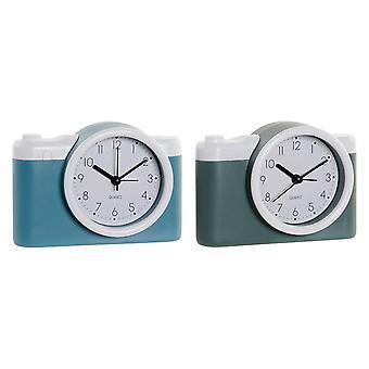 Asztali óra DKD Home Decor Alarm Clock Photo Camera PVC (2 pcs) (13.6 x 4.6 x 9.6 cm)