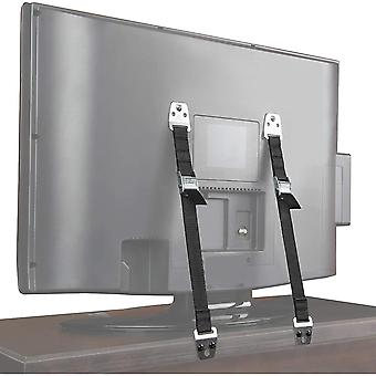 Flexzion TV & Furniture Straps, Safety for Flat Screens Televisions (Up to 65 In) Dresser