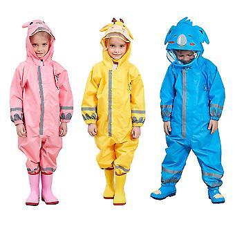 3-10Years kids cartoon raincoat outdoor waterproof jumpsuit one piece rainwear coat multicolor unisex children frog giraffe coat