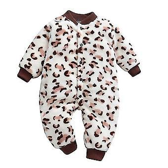 Podzimní a zimní dětské oblečení - Dinosauří tisk Soft Fleece Kombinéza pyžamo