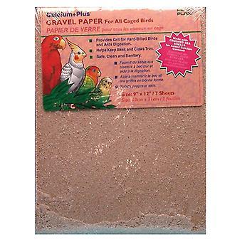 "Penn Plax Calcium Plus Gravel Paper for Caged Birds - 9"" x 12"" - 7 Pack"