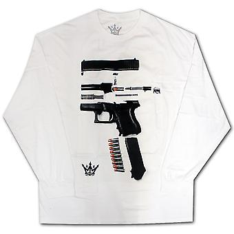 Mafioso Dismantled Long Sleeve T-Shirt White