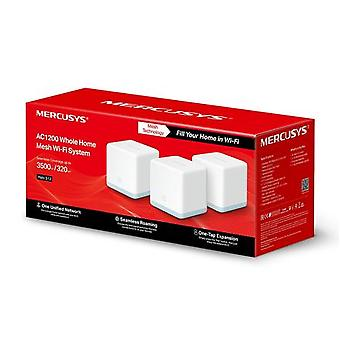 Mercusys AC1200 Whole Home Mesh Wi-Fi System Halo S12 (3-pack) 802.11ac, 300+867 Mbps, 10/100 Mbps, Ethernet LAN (RJ-45) ports 2, Mesh support Yes, MU-MiMO Yes, white