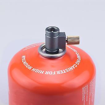 Nouvel adaptateur portable de recharge de propane Coupleur de réservoir de bouteilles de gaz en alliage d'aluminium