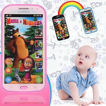דגם פלסטיק צעצוע טלפון בשפה הרוסית ללמוד צעצועים אינטראקטיביים לילדים