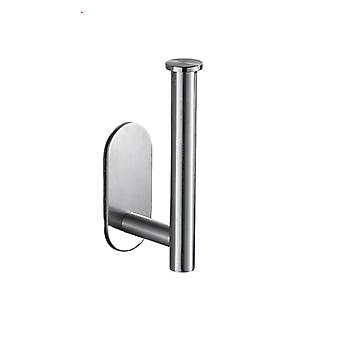 Toilet Roll Holder Bathroom Tissue Towel Rack Stainless Steel Self Adhesive No-punching Installation