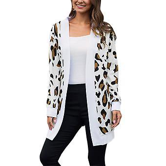 kvinner uformell cardigan jakke langermet åpen front jakke outwear topp