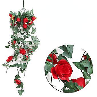 جدار الديكور مصنوعة من الزهور الاصطناعية والروطان