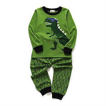 2 Piece Outfit Xmas Gift Boys Pyjamas Dinosaur Nightwear Cotton Toddler Clothes Kids Sleepwear Winter