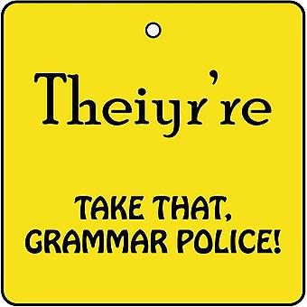 Grammar Police Car Air Freshener