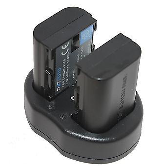 Dot. foto LP-E6 udskiftningsbatteri (2-pak) & hurtig Dual USB-oplader til Canon [Se beskrivelse af kompatibilitet]