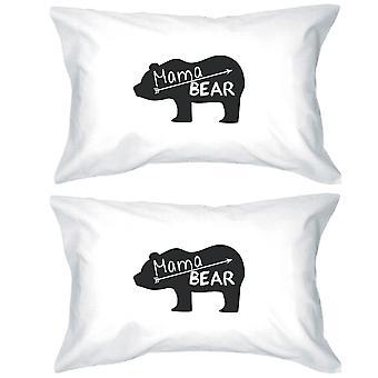 Mama Bear vit bomull kudde fallet unika Design presenter till mammor