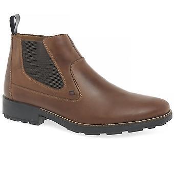 أحذية الكاحل الجلد البنى Rieker ريتشارد رجالي 36062