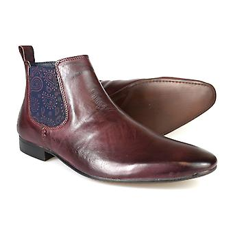 Silver Street Carnaby Oxblood Leather Mens Chelsea Boots