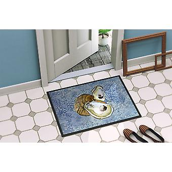Carolines Treasures  8152-MAT Oyster  Indoor or Outdoor Mat 18x27 8152 Doormat