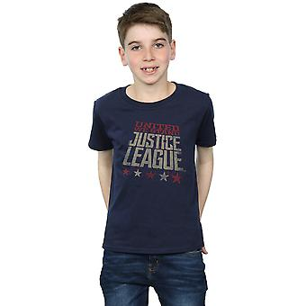 DC Comics Boys Justice League Movie United We Stand T-Shirt