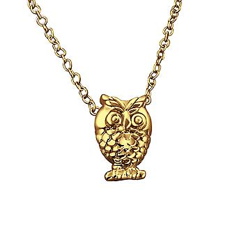 Owl - 925 Sterling Silver Plain Necklaces - W19901X