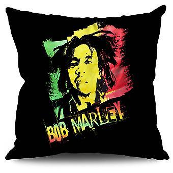 Marley Cannabis Bob linned pude 30 cm x 30 cm | Wellcoda