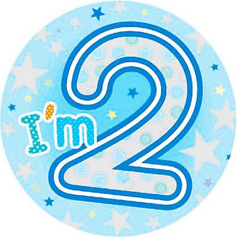 Expression Factory Childrens Boys I Am 2 Today Giant Badge