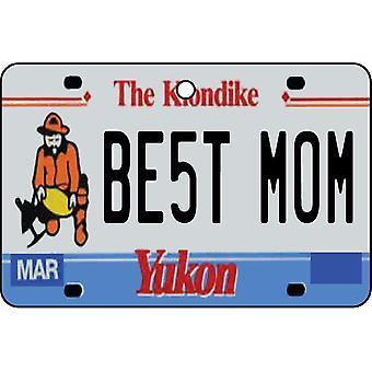 YUKON - Best Mom License Plate Car Air Freshener