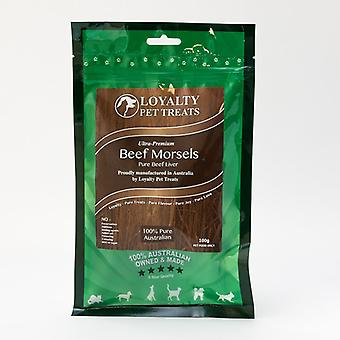 Loyalty Pet Treats Beef Morsels 100G