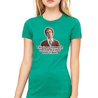 Napoleon Dynamite Worst Video Women's Kelly Green Funny T-shirt