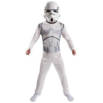 Stormtrooper Star Wars elokuva Disney lisensoitu poikien puku naamio pakkaus M 8-10