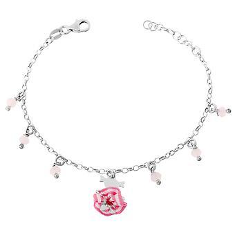 Orphelia Silber 925 Kinder Armband Pink Ballerina mit Tutu ZA-7133