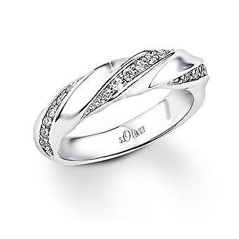 s.Oliver damesring juweel zilveren Zirkonia SO826
