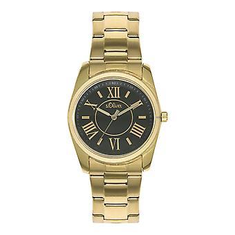 s.Oliver Damen-Armbanduhr Analog Quarz IP Gold SO-15115-MQR