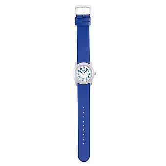 Scout kind horloge leren primario blauwe jongens horloge 280306005