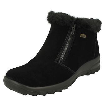 Ladies Rieker Fur Lined Ankle Boots L7163