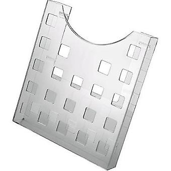 Helit the grid H6102502 Brochure holder Glassy A4 No. of compartments 1 1 pc(s) (W x H x D) 239 x 262 x 47 mm