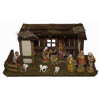 Crib Travis wood crib Nativity Christmas Nativity stable