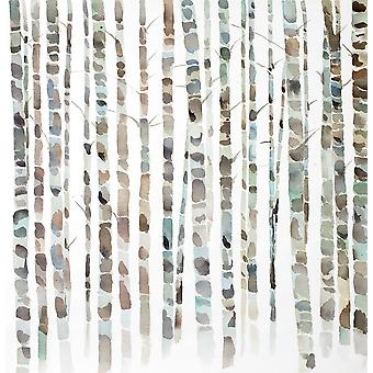 WATERCOLOR BIRCH TREE FOREST Poster Print by Atelier B Art Studio