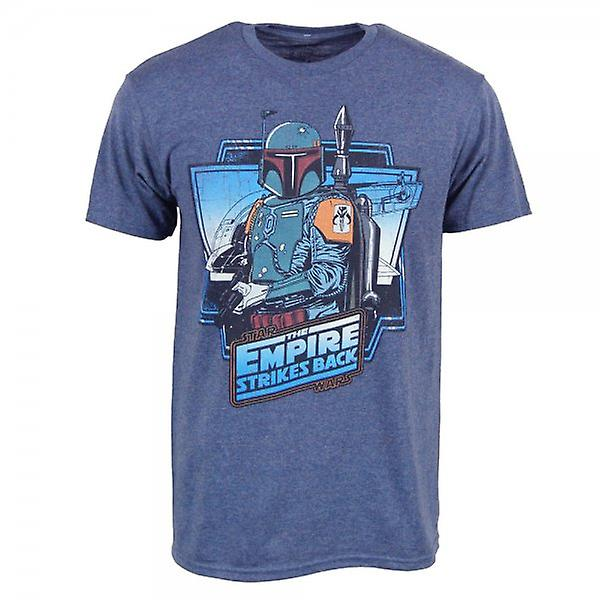 Star Wars Mens Star Wars Boba Fett Empire T Shirt bleu