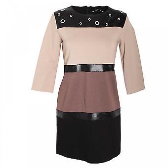 Latte Block Colour Shift Dress